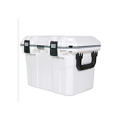 DAGCOT El Cofre de Hielo Aislado de Servicio Pesado refrigerador Mantiene un portátil Duradero de Hielo para Viajar para Acampar y Actividades al Aire Libre 30L / 27.2 Cuarto de galón (Color : White)