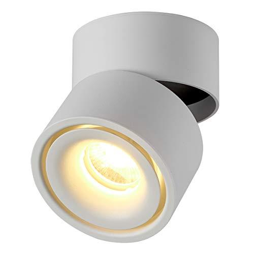 Dr.lazy 10W LED Aufbauleuchte Deckenleuchte,Deckenspots, wandleuchten,Deckenfluter,Deckenstrahler,DeckenLampe,Deckenbeleuchtung,Falten Drehen Aufputz Deckenleuchte,Aluminium,10x10x10CM (Weiß-3000K)