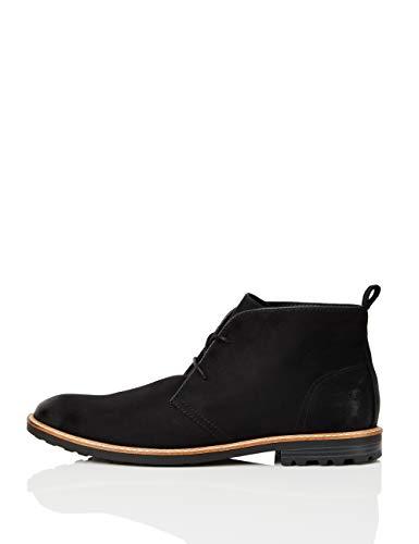 find. Desert Boots Herren rahmengenäht, aus rauem Kunstleder, Schwarz (Black), 41 EU