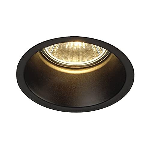 SLV LED Einbaustrahler HORN-O, rund, schwarz, Dimmbare Decken-Lampe zur Beleuchtung innen, LED Spots, Fluter, Deckenstrahler, Deckenleuchten, Einbau-Leuchte, 1-flammig, GU10 QPAR51
