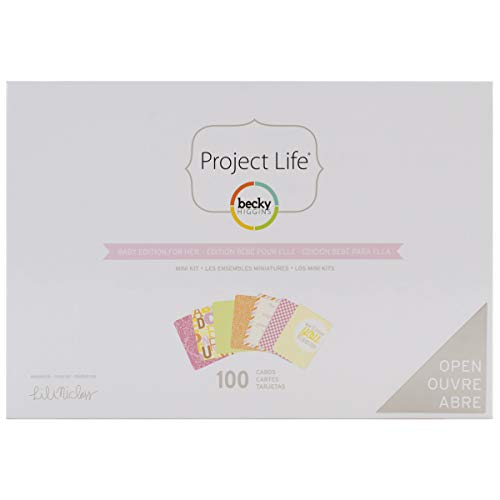 Project Life Mini Kits Baby Edition for Her (100 Pieces)