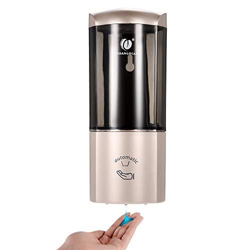 Galapara Chuangdian Automatischer Seifenspender, flüssiger Seifenspender, 500 ml, mit Infrarot-Sensor, für Küche oder Badezimmer, Champagne Or, Capacité(500ml)