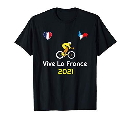 Vive La France French Slogan Love Bicycle Racing Summer 2021 T-Shirt