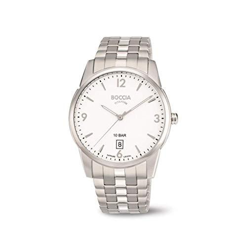 Boccia Herren Analog Quarz Uhr mit Titan Armband 3632-01