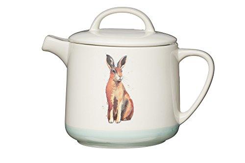 KitchenCraft Apple Farm HandgefertigteHarry Hare 6 Teekanne/Kaffeekrug, 1.4 L, Keramik, Mehrfarbig, 13.6 x 21 x 17.5 cm, 1 Einheiten