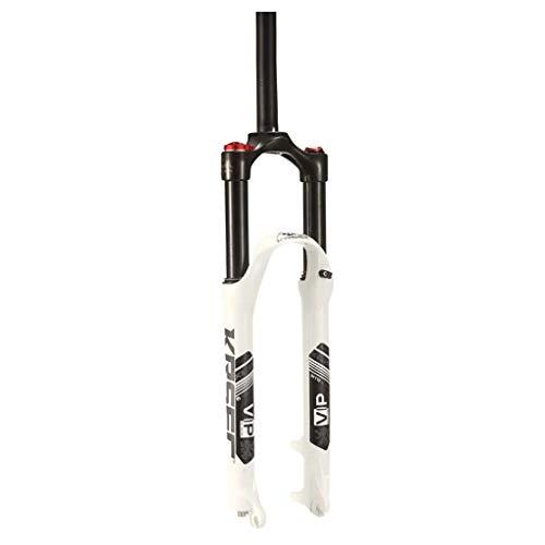 VTDOUQ Horquilla de Bicicleta 26 27,5 29 Horquilla de Amortiguador de Aire MTB suspensión de Bicicleta 28,6 mm QR 9 mm de Recorrido 100 mm Bloqueo de Corona