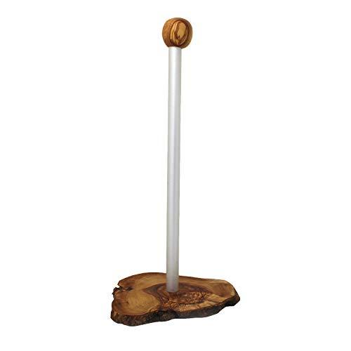 mitienda mit Liebe gemacht Küchenpapierhalter aus Holz und Metall, Küchenrollenhalter aus Olivenholz, Handmade