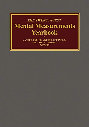 Compare Textbook Prices for The Twenty-First Mental Measurements Yearbook  ISBN 9780910674683 by Buros Center,Carlson, Janet F.,Geisinger, Kurt F.,Jonson, Jessica L.