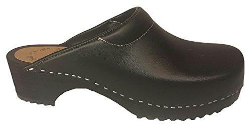 Zuecos estándar Negro - Forma danesa