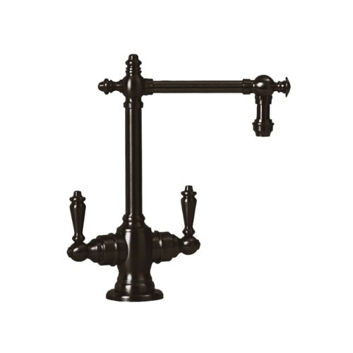 Waterstone 1700HC-ORB Towson Filtration Faucet Hot and Cold with Double Lever Handles, Black Oil Rubbed Bronze
