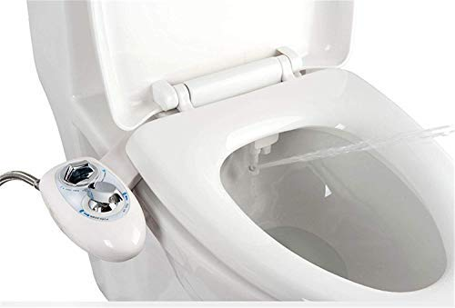 IBAMA Bidet Nettoyeur de Toilettes Assis avec Dual Nozzle Pression d'eau Ajustable Self Cleaning (Nouveau-02)