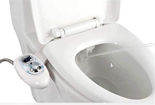 IBAMA Bidés, Boquilla de autolimpieza - Accesorio de WC de bidé mecánico no eléctrico de agua dulce (Negro)