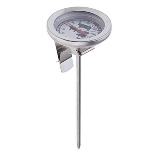 Fenteer Grill Grilldeckel Thermometer Edelstahl Grill Smoker BBQ Analog Eigenbau Grills