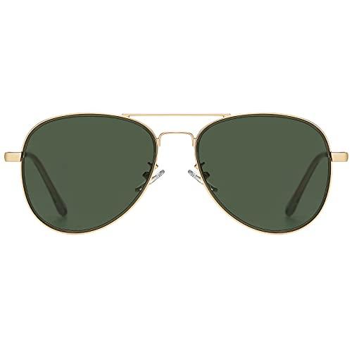 H HELMUT JUST Gafas de Sol Aviador para Hombre Mujer Piloto Espejo para Viajes UV400 HJ1304