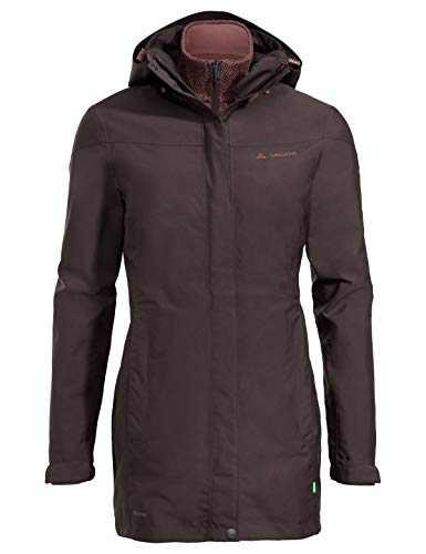 VAUDE Damen Doppeljacke Women's Idris 3in1 Parka II, pecan brown, 38, 41103