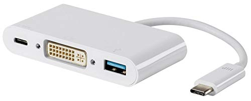 Monoprice USB-C VGA Multiport Adapter - White, With USB 3.0 Connectivity & Mirror Display Resolutions Up To 1080p @ 60hz - Select Series