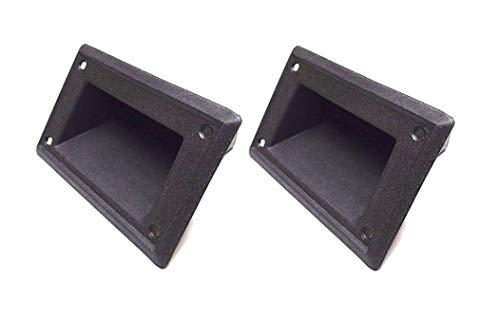 "MIYAKO Recessed Speaker Handle Pocket Style 4"" x 3.5"" for Speaker Box Cabinet - Heavy Duty Black ABS Plastic Construction 1 Pair (2pcs)"