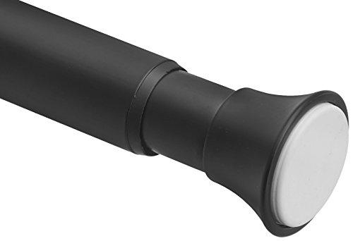 Amazon Basics Teleskop-Duschvorhangstange zum Einklemmen, 137-229 cm, Schwarz