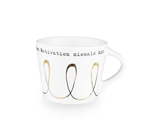 Grafik-Werkstatt Premium-Tasse, Motivation, Good Morning, Espresso Tasse, Goldveredlung