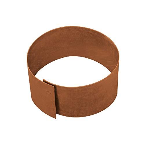 bellissa Rasenkante Kreis Ø30 cm H 13 cm corten - Cortenstahl - rund - Mit patentierter Verbindungstechnik