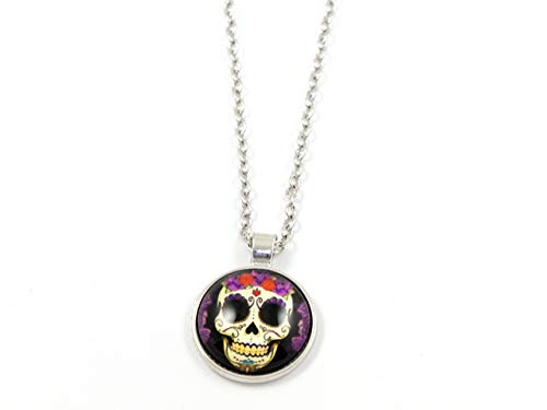 Halskette Skull Head Karneval Halloween Fasching Tag der Toten Dia de los Muertos Maske Day of The Dead