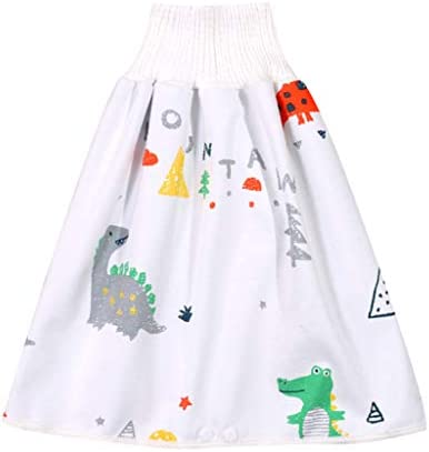 Orcbee Children s Diaper Skirt Shorts 2 in 1 Anti Bed wetting Washable Cotton Bamboo Fiber Waterproof product image