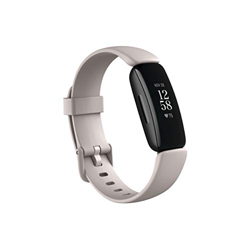 Fitbit Inspire 2 Health & Fitness Tracker with a Free 1-Year Fitbit Premium Trial, 24 7 Heart Rate, Black White, One Size (S & L Bands Included)