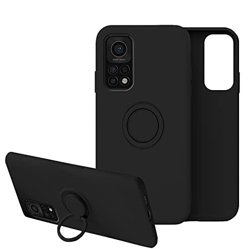 Funda para Xiaomi Mi 10T Funda Xiaomi Mi 10T Pro,Fundas Xiaomi Mi 10T Carcasa Xiaomi Mi 10T Pro 5g Case Silicona Antigolpes Compatible con Posterior Magnético Soporte (Xiaomi Mi 10T, Negro)