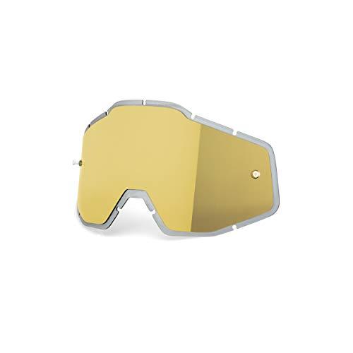 100 Percent Écran Pour Masque Mx Accuri - Racecraft - Strata Anti-Fog Or Mirror (Default, Or)