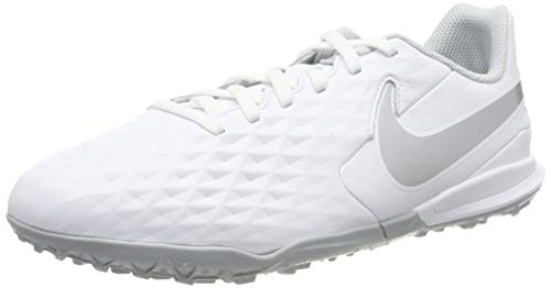 Nike Legend 8 Academy TF, Zapatillas de Fútbol Unisex Niños, Blanco (White/Chrome/Pure Platinum 100), 28 EU