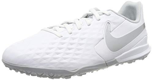 Nike Unisex-Kinder Legend 8 Academy TF Fußballschuhe, Weiß (White/Chrome-Pure Platinum 100), 38 EU