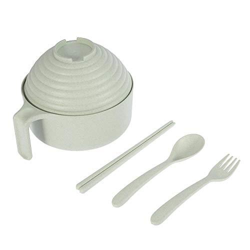 Tazones de Fideos-Taza de Sopa de Paja de Trigo con Palillos Tenedor...
