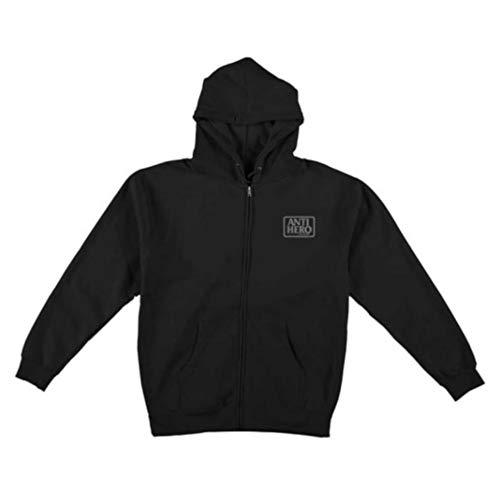 Anti Hero Felpa Zip Hood Reserve Black Grey (M)