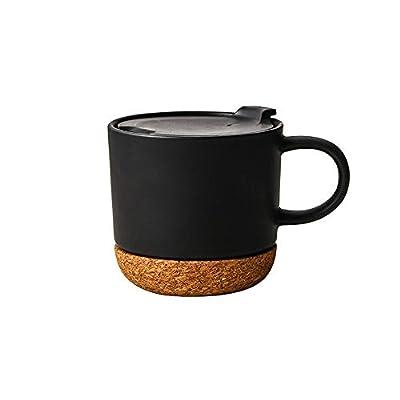 40697170e0a Short And Wide Porcelain Travel Mug With Cork Coaster   Road Mugs