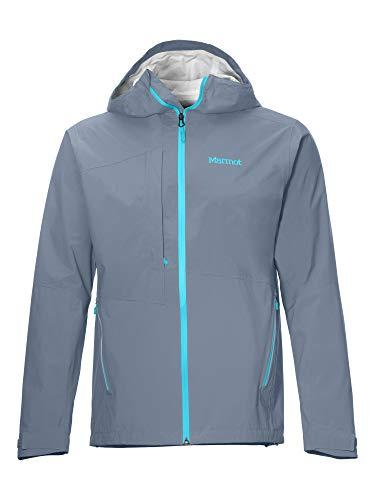 Marmot Herren Hardshell Regenjacke, Wasserdicht, Winddicht & Atmungsaktiv EVODry Torreys Jacket, Steel Onyx, M, 41060