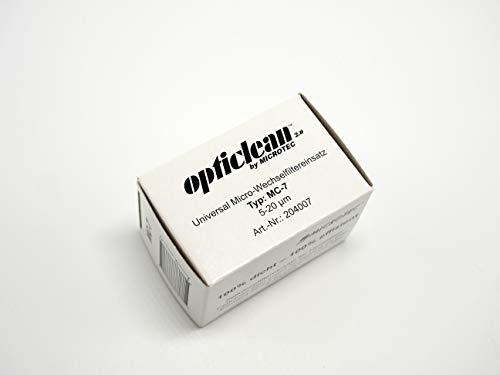Microtec® opticlean Filtereinsatz MC-7 | 5-20 µm | der innovative und effiziente Heizölfilter | hervorragende Filtereigenschaften | Vorbeugung von Störungen und Reparaturen | mit Dichtring