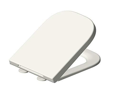 Grünblatt 515206 - Asiento de inodoro (bajada lenta y extraíble, duroplast, material de alta calidad), color blanco