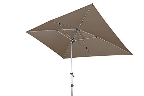 Doppler EXPERT Auto Tilt – Rechteckiger Sonnenschirm für Balkon oder Terrasse – Knickbar – ca. 300x200 cm – Greige