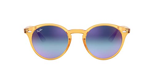Ray Ban MOD. 2180 SUN, Gafas de Sol Unisex, Amarillo (Shiny Yellow), 51 mm