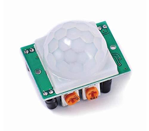 Yongenee 1pcs / Lot HC-SR501 Passen Sie IR Pyroelektrische Infrarot-PIR-Bewegungssensor-Detektor-Modul für for Arduino für Himbeer-PI-Kits EIN Werkzeug (Color : HC SR501)