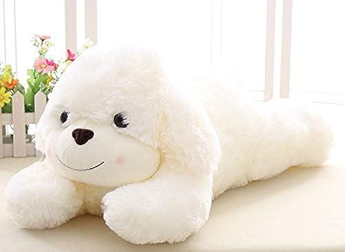 PANGDUDU Größe Hundekissen Puppe Plüschtier Hy  mädchen Umarmen Schlaf Tuch Puppe Geburtstag mädchen, Weiß 80cm