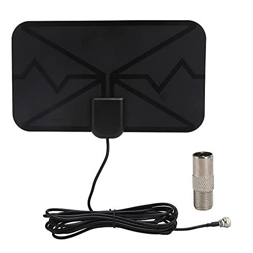 ciciglow Antena Digital, Antena de recepción de señal de TV 1080p, Amplificador de señal de Antena de Alta Ganancia para TV Interior con Cable de 300 cm Compatible con 720p 1080i 1080p ATSC