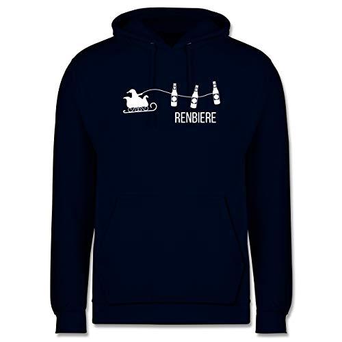 Shirtracer Typisch Männer - Renbiere - XS - Navy Blau - Hoodie männer grau - JH001 - Herren Hoodie und Kapuzenpullover für Männer