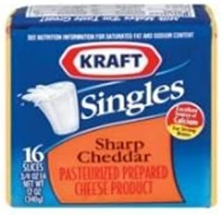 Kraft Singles Sharp Cheddar Sliced Cheese, 12 Ounce -- 12 per case.