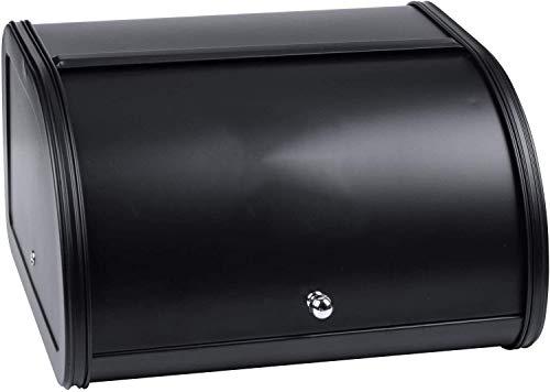 Hailiang Vintage Brotkasten Vorratsbehälter, Beschichtete Brot Eisenkästen Lebensmittelbehälter, Brotbehälter Küche Lebensmittelhalter (Farbe: Schwarz)
