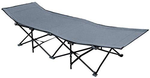 AMANKA Lit de Camp Pliable de Portable avec Sac INCL idéal pour Faire du Camping Voyager Se Bronzer Structure en Acier 190x70cm 10 Pieds Gris