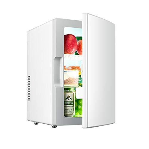 BD.Y Mini refrigerador portátil de 18 litros, Enfriador y Calentador portátil con alimentación de CA/CC, Puede Contener 10 Botellas de 550 ml, silencioso, Adecuado para Dormitorio, Oficina, dor
