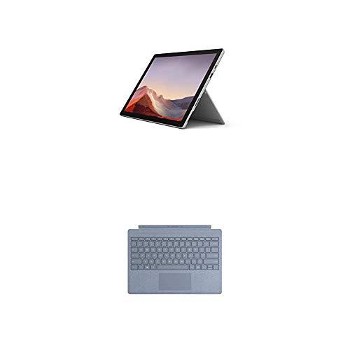 """Microsoft Surface Pro 7 - Ordenador portátil 2 en 1 de 12.3"""" (Intel Core i5-1035G4, 8GB RAM, 128GB SSD, Intel Graphics, Windows 10) Plateado - Funda con Teclado, Azul"""