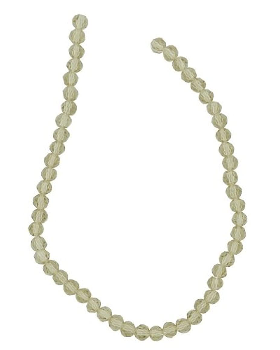 Tennessee Crafts 2688 Glass Faceted Round Light Champagne 4mm Beads, 52-Piece