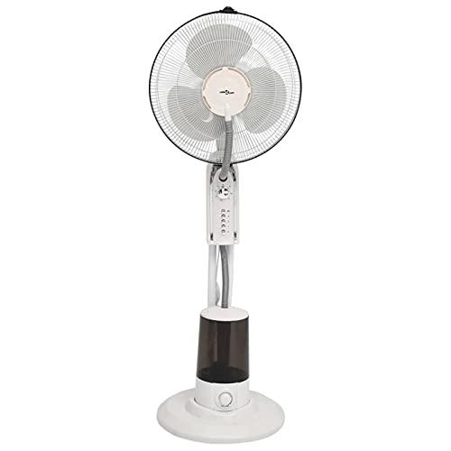 Tidyard Ventilador Nebulizador de Pie 3 Velocidades Ventilador de pie Ventilador Oscilante de Pie Blanco 40 x 125 cm